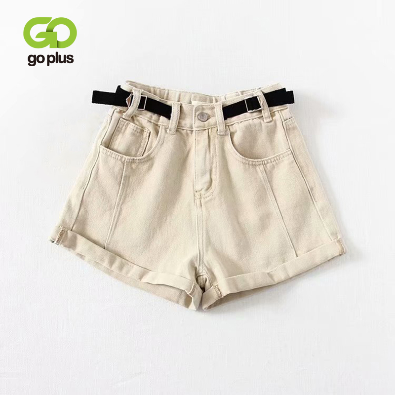 GOPLUS High Waisted Shorts For Women Sexy Camouflage Black Denim Shorts Feminino Spodenki Damskie Pantalones Cortos Mujer Jeans