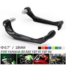 Alavancas de freio e embreagem de motocicleta, protetor de punho para moto yamaha r3 r25 yzf r1 yzf r6 cnc alumínio cnc