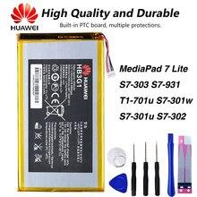 Original Huawei HB3G1 4000mAh MediaPad Battery For Huawei S7-303 S7-931 T1-701u S7-301w MediaPad 7 Lite s7-301u S7-302 for new touch screen digitizer glass replacement huawei mediapad 7 youth2 youth 2 s7 721u s7 721 7 inch black free shipping