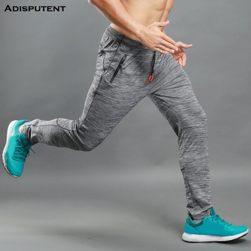 Adisputent Men's Trousers Sweatpants Joggers Sports-Pants Zipper-Pocket Streetwear Bodybuilding