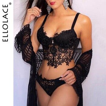 Ellolace Underwear Set Sexy Lace Lingerie Set Underwear For Women Erotic Lingerie Bra Set Hollow Out Sexy Women's Underwear 1