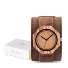 בובו ציפור מותג שעוני נשים יפן תנועה זברה עץ קוורץ שעון יוקרה עץ גבירותיי שעון Relogio Masculino אריזת מתנה C D02