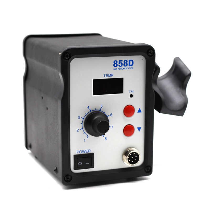 Горячий воздушный пистолет фен тепловентилятор отпайка ESD паяльная SMD станция 858D + 60 Вт Температурный Регулируемый паяльник