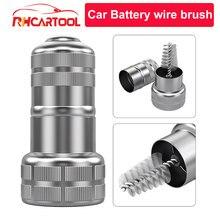 Brosse métallique de nettoyage de batterie de lavage de voiture, brosse de fil de nettoyage de câbles, brosses de Corrosion de saleté, outil à main, brosses de détail de voiture, OBD2