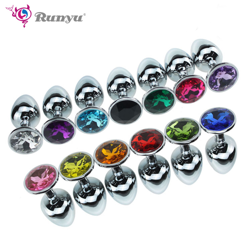 1pcs Stainless Steel Small Size Plug Anal Beads Crystal Jewelry Stimulator Sex Toys Dildo Anal Plug Gay Sex Products Anal Sex