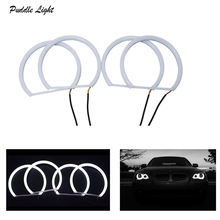 Car-styling 1 SET (2X 106mm+2X 131 mm )White Halo Cotton Light car smd LED Angel eyes for BMW E90 non projector auto lighting
