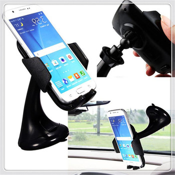 car Sucker Mount Bracket GPS Phone Holder Stand for HYUNDAI-SOLARIS Saloon (HCR) VERNA ACCENT MAZDA-3 (BK) image