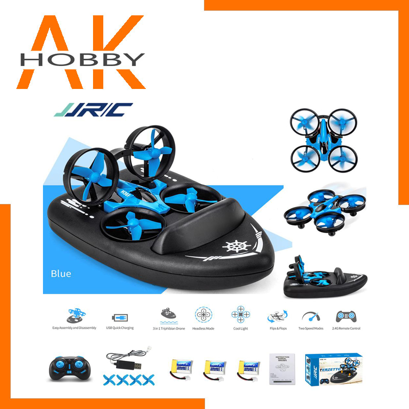 Upgraded JJRC H36F Mini Drone Helicopter 2 4G 4CH 6-Axis Gyro Speed 3D Flip Headless Mode RTF Boat Car Water Ground Air  3-mode