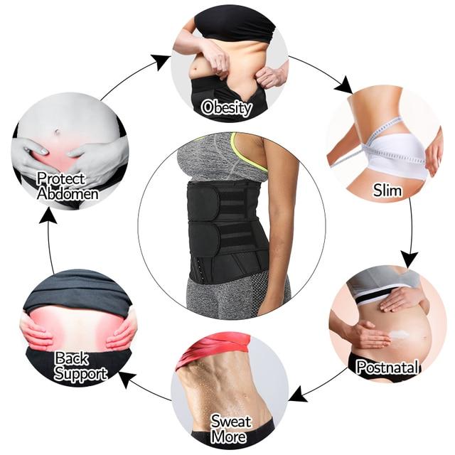Boned Latex Waist Trainer Corsets for Women Weight Loss Body Trimmer Belt Slimming Shaper Workout Faja Compression Sweat Girdles 1