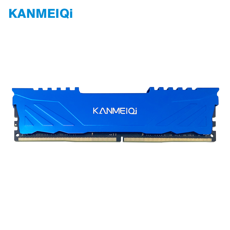 Kanmeiqi DDR4 4GB 8GB ram 16GB 2133mhz 2400/2666mhz desktop memory with heat sink DIMM 1.2V 288pin Support all motherboards DDR4