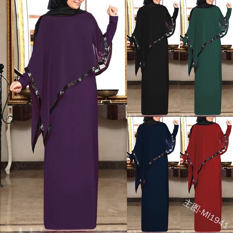 Muslim Chiffon Abaya Kimono Hijab Dress Cape Arabic Dubai African Women Pakistan Caftan Marocain Kaftan Qatar Islamic Clothing