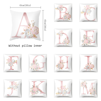 Pillow Cover Decorative Pink Letter Printed Cushion Covers 45 45 Pillowcase Sofa Cushions Polyester cuscini
