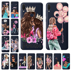 На Алиэкспресс купить чехол для смартфона fashion super mama girl baby painted case transparent silicone shell for asus zenfone max pro m1 zb601kl zb602kl case 5.99дюйм.