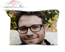 Seth Rogen cosmetic bag personalized small makeup bag funny makeup organizer toiletry bag zipper pouch(China)