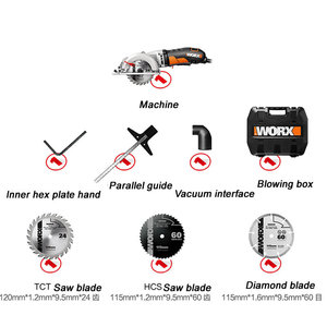 Image 5 - Mini chainsaw wx429 updated from wx423 circular lumbering electric saw angle grinder hand held carpenter cutting guide cutter