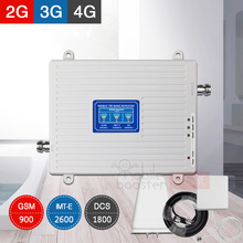 900 1800 2600 Cellular Signal Booster GSM 2G 4G LTE Mobile Phone Repeater 2600Mhz Cell Amplifier Kit 70dB Gain