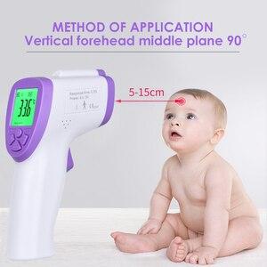 Image 2 - Цифровой термометр для взрослых, инфракрасный термометр для лба, тела, пистолет, бесконтактный термометр для измерения