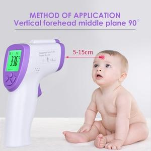 Image 2 - Adult Digital Termomete Infrared Forehead Body Thermometer Gun Non contact termometro Measurement Device thermometer
