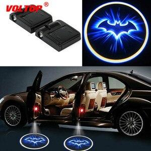 Image 1 - CONDUZIU a Lâmpada de Projeção A Laser Painel Do Carro Acessórios de Decoração Do Carro Ornamentos Interior Do Carro Porta de Luz Sem Fio