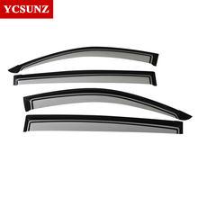 Accessoires de déflecteurs de fenêtre latérale, ABS, pour Mitsubishi L200 Triton 2006 – 2014 Ycsunz