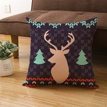 Льняная наволочка Рождественский домашний декор интерьер спальня