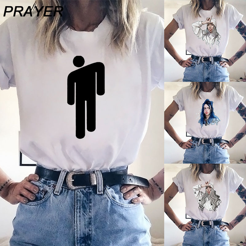 New Billie Eilish White Women T Shirt Black Male Tee Titanfall Be Logo Print Modal Soft Short Sleeve Summer Leisure Tops Homme