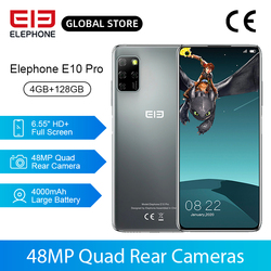 Смартфон в наличии ELEPHONE E10 Pro, 4 + 128 ГБ, четыре задних камеры 48 МП, 6,55 дюйма, 4000 мА · ч, NFC