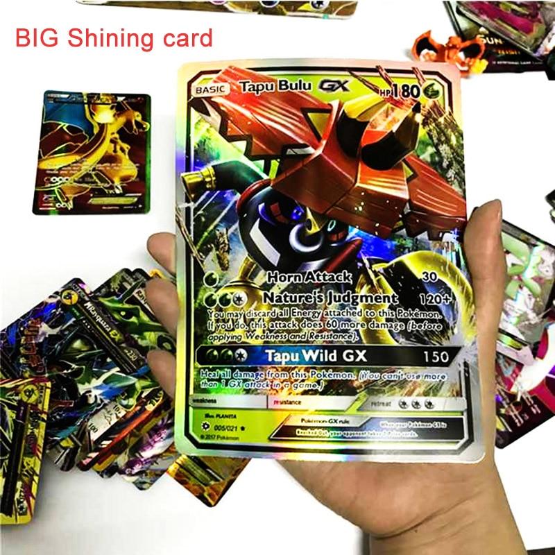 TAKARA TOMY TCG 69pcs Desktop Trading Card Game Flash Cards Collections GX Evolutions Children Toys Metal Box Big Shining Card