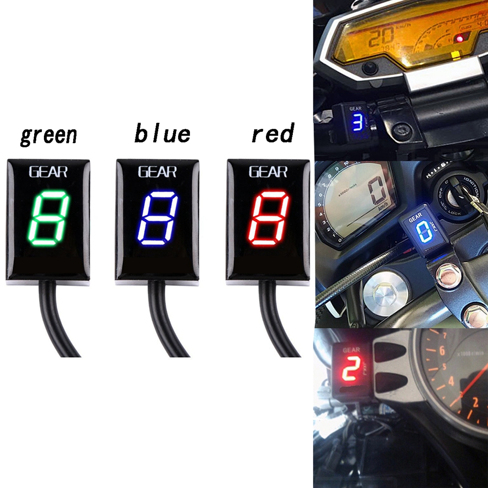6 Speed Gear LED Display Indicator 1-6 Level Gear Indicator For <font><b>Honda</b></font> <font><b>VT750S</b></font> FI model shadow 750 VT1300 (All) VT 750S VT 1300 image