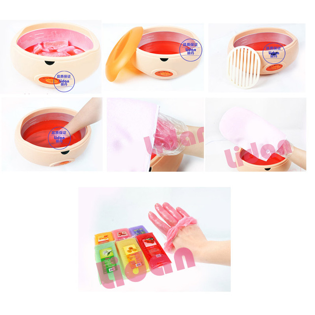 Lidan 450g Paraffin Wax Bath Hands Mask Moisturizing Hydrating Hand Mask Remove Dead Skin Hands Care Wax Mask 5