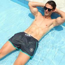 Сетчатая одежда для плавания мужские шорты для плаванья мужские плавательные трусы Быстросохнущий Мужской купальный костюм Пляжная одежда для серфинга Плавки шорты zwembroek
