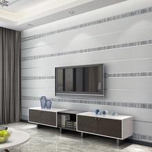 Modern 3D Stereoscopic Striped Non woven Wallpaper For Living Room Bedroom TV Ba