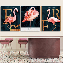 Elegant Flamingo Nordic Wall Picture Poster Print Canvas Painting Calligraphy Decor for Living Room Bedroom Home Frameless