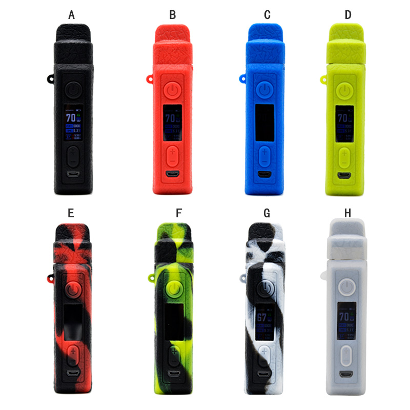 Silicone Case 510 Adapter For VOOPOO VINCI X 70W Pod Vape Texture Skin Cover Sleeve Wrap Shell Gel Shiel Lodge Pouch Hull