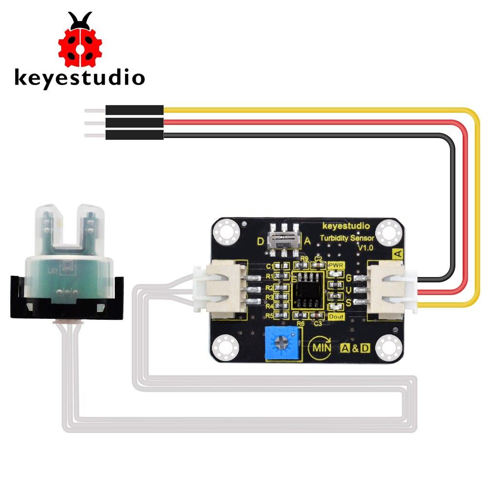 Sensor de turbidez keyestudio v1.0 com fios compatíveis com arduino para testes de água