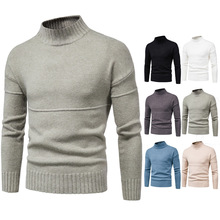 2020 New Mens Warm Sweater Casual Fashion Knitted Pullover Sweaters Male Solid Color Knitwear Tops