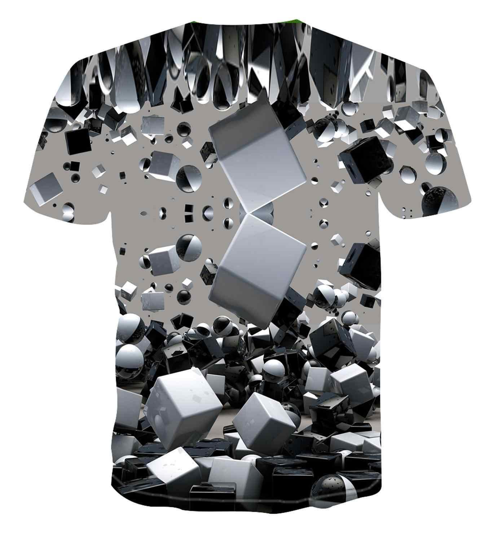 Футболка с геометрическим рисунком, футболка erkek basit renk en 3D serin benzersiz güneş kare, 2020