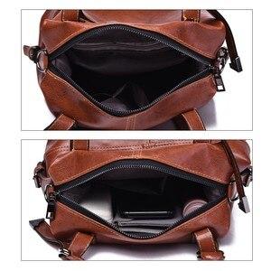 Image 5 - Herald moda kadın çantaları kadınlar için Crossbody çanta Retro Vintage bayanlar deri çantalar kadın omuzdan askili çanta kadın fermuar kese