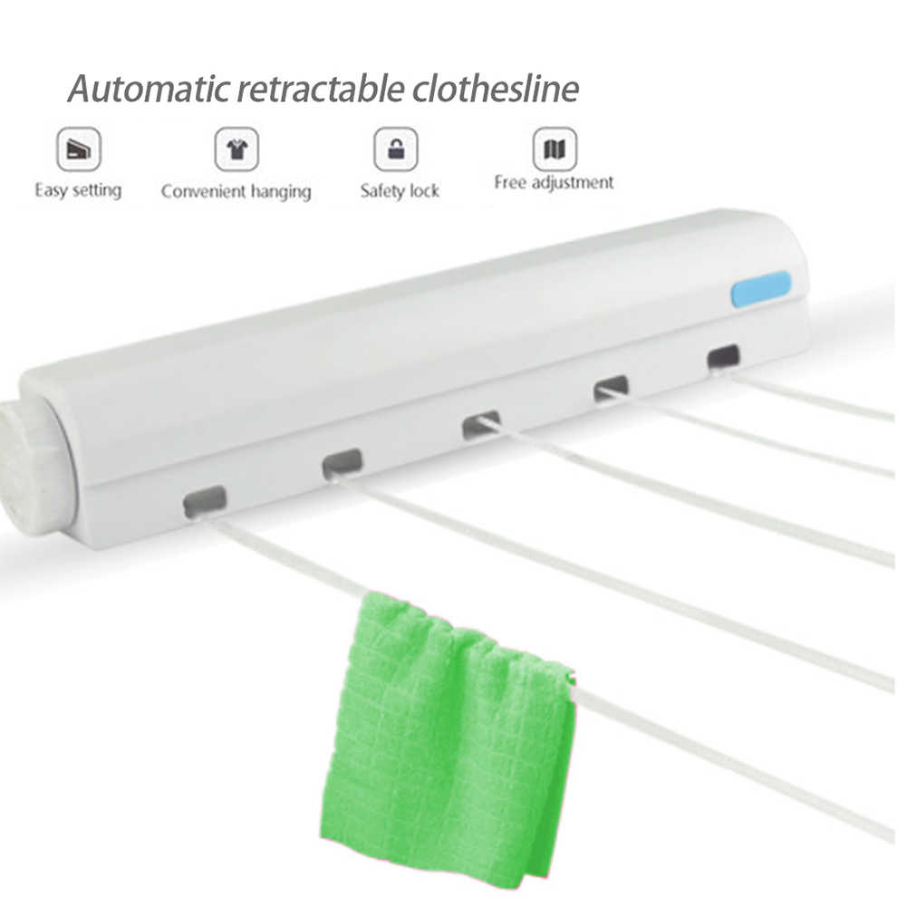 Wall Mounted Clothes Line Retractable