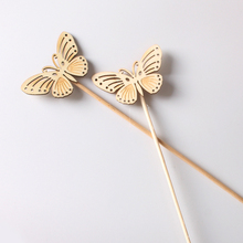 10pcs Wooden Replacement Home No Fire Aromatherapy Accessories Butterfly Shape Eco-friendly Bathroom Reed Diffuser Sticks