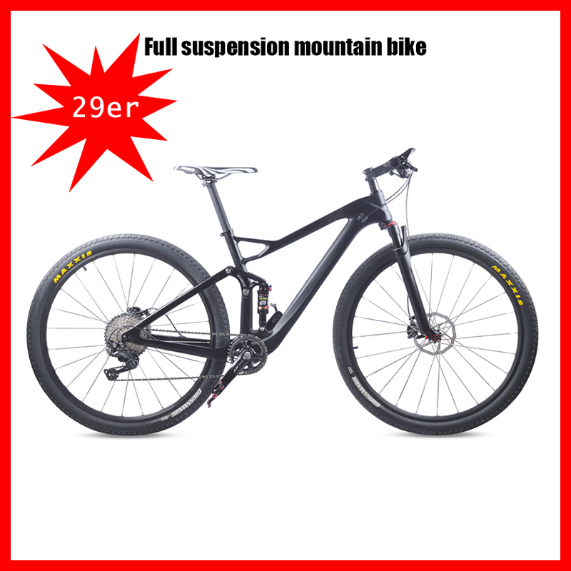 2020 New MTB Carbon Suspension Mountain Bike Complete Suspension Bicycle XT M8000 29er Mountain Bike 29er 10s Or 11s Speed 29