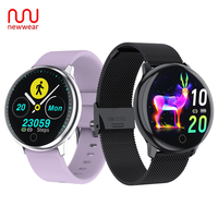 Newwear Q16 Full Round Touch Control Heart Rate Blood Pressure Physiological Monitor Bracelet Fitness Tracker Smart Watch Q9 Q8
