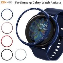 Metalowy pierścień Bezel do Samsung Galaxy Watch Active 2 40mm 44mm Protector skrzynki pokrywa akcesoria