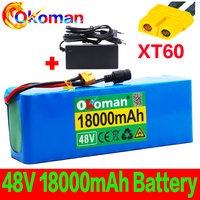 48V battery 13s3p 18Ah battery pack 1000W high power battery  Ebike electric bicycle BMS with xt60 plug + charger