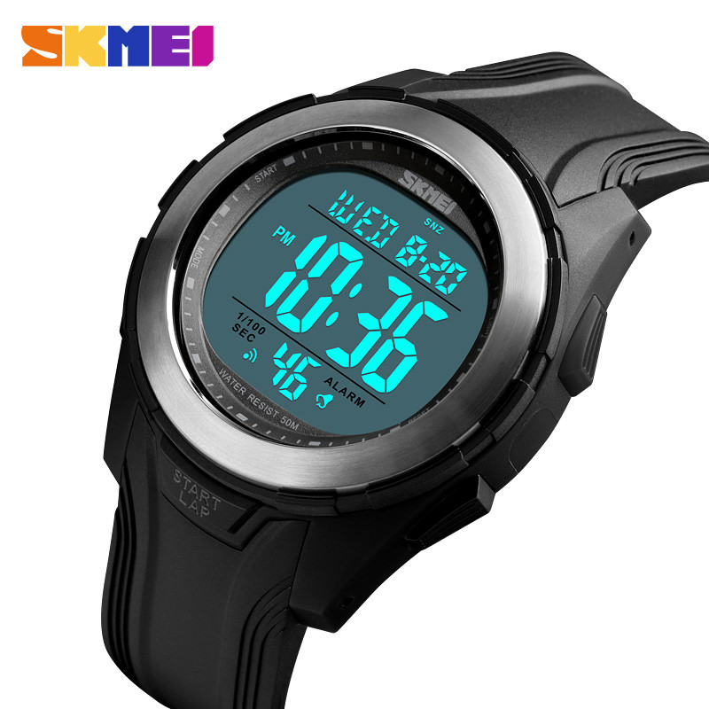 <font><b>SKMEI</b></font> Fashion Watch Men Multi-Function Electronic Hand Table 50M Waterproof Watch Stainless Steel Case Outdoor Sports Watch <font><b>1503</b></font> image