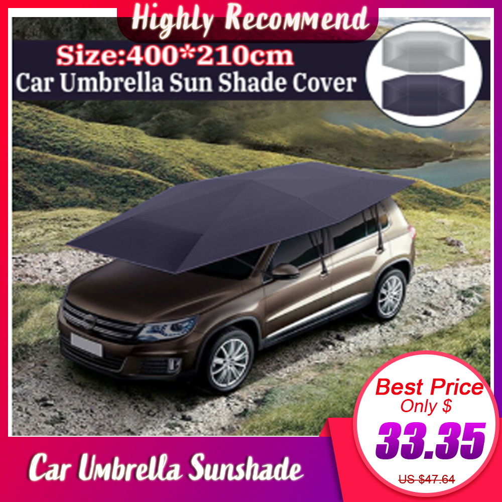 400x210cm Remote Automatic Car Umbrella Sunshade Tent Roof Cover Anti-UV Hot Protection Outdoor Protector Sun Shade Summer