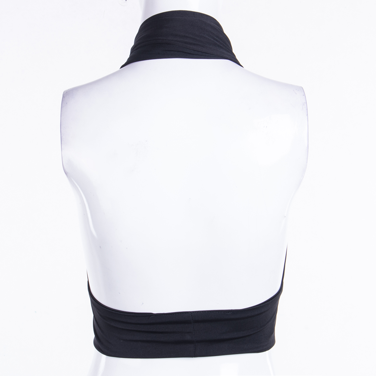 Chic Fashion Cross Halter Sexy Crop Tops for Women Sleeveless Backless Streetwear Hollow Cropped Feminino Top 2021 5