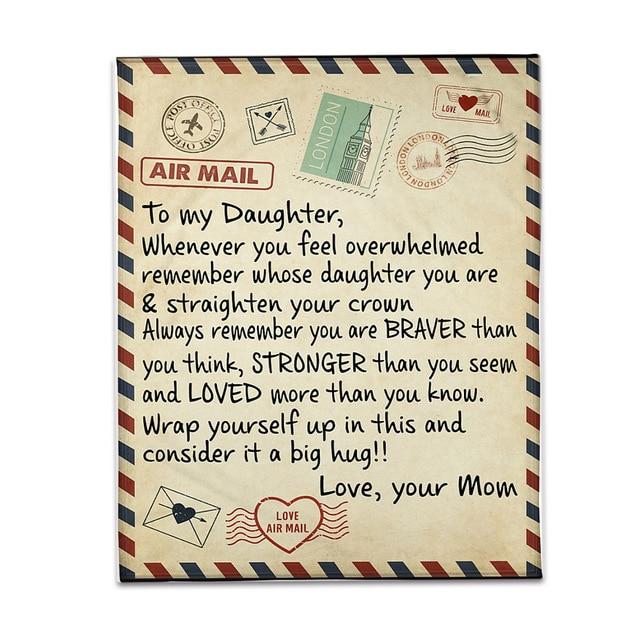 Yeyll Couverture polaire avec lettres fran/çaises pour ma fille Motif lettres imprim/ées