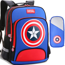 kids backpack boys book bags for school bag 2019 waterproof nylon Captain America children backpacks