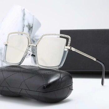 Gafas de sol de gran tamaño para mujer, Gafas cuadradas de ojo...